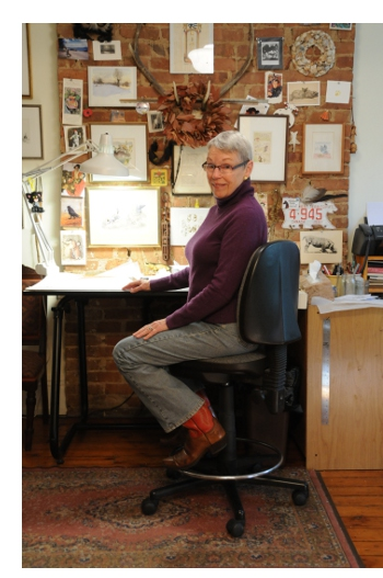 Betsy Lewin in her studio